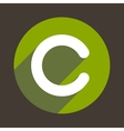Letter C Logo Flat Icon Style vector image