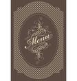menu brown vector image