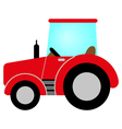 red tractor vector image