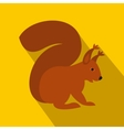 Squirrel icon in flat style vector image