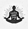 vintage meditation apparel print t-shirt design vector image