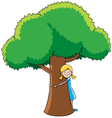 Tree Hugger vector image vector image