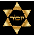 Remembrance Hebrew - The Holocaust symbol vector image