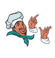 set african cook and hand gestures vector image