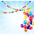 Colored Balloons Background vector image