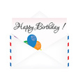 Evelope with greeting card vector image
