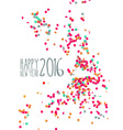 Happy new year 2016 confetti party background vector image