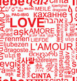 seamless love background - word collage vector image vector image