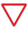 give way sign vector image