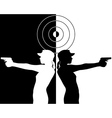 pistol shooter vector image