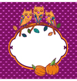 Halloween greeting card with owls vector image vector image