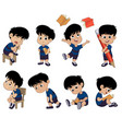 all of kids different pose about learningback to vector image
