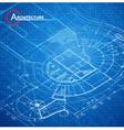 Architectural blueprint vector image