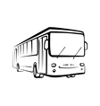 bus sketch isolated oi black outlines vector image