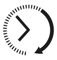 clock icon black and white clock arrows vector image