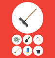 flat icon dacha set of hosepipe trowel tool and vector image
