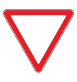 give way sign vector image