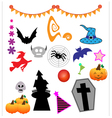 Halloween design elements vector image