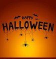 happy halloween concept post card background vector image