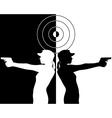 Pistol shooter vector image