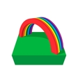 Rainbow cartoon icon vector image