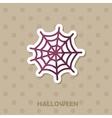 Spider web icon Halloween sticker vector image