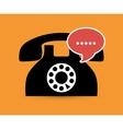 Telephone line communication vector image