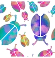 watercolor seamless pattern with colorful vector image