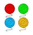 Balls of yarn vector image