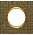 Golden Shiny Frame vector image vector image