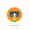 Flat video hosting Online vector image vector image