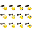 Smiles emotions with plates vector image vector image
