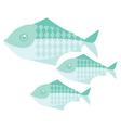 Green simple fish vector image
