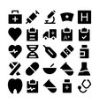 Health Icons 1 vector image