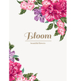 Vintage wedding invitation with colorful flowers vector image vector image