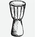 African drum vector image