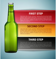Bottle beer infographics icon isolated on blue vector image
