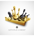 chess and chessboard vector image