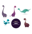 Cute funny lovely dino vector image