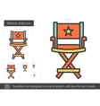 Director chair line icon vector image