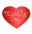 Happy Valentine s Day lettering vector image