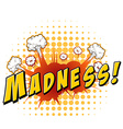 Madness vector image