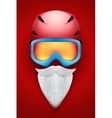 Santa Claus symbol with helmets and goggles vector image