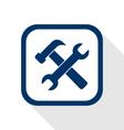 setting flat icon vector image