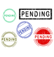 5 Grunge Stamps PENDING vector image