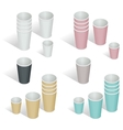 Flat 3d isometric Paper cup vector image