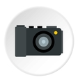 Camera icon flat style vector image