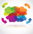 Group of communication speech clouds vector image
