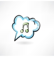 music in the cloud vector image