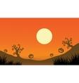 Pumpkin and full moon Halloween bakcgrounds vector image